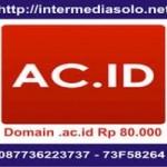 Domain .ac.id Rp 80.000