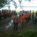 Ratusan SAR Gabungan masih melakukan pencarian 2 korban tenggelam di Waduk Cengklik
