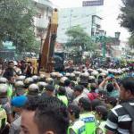 Demo Karyawan XL menolak eksekusi Gedung XL Yogyakarta