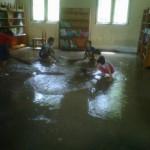 BANJIR DI BOYOLALI – SD di Ngemplak hari ini masih belum laksanakan kegiatan belajar mengajar